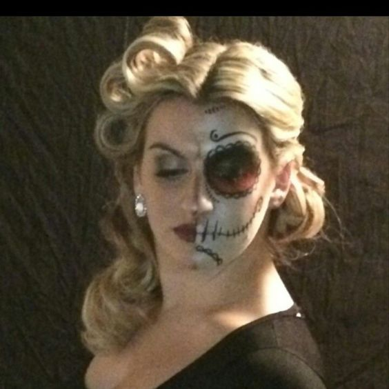 #Halloween #photoshoot done by our stylist, Kristin! She did half #pinup and half #sugarskull