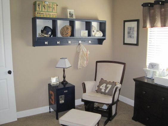 Vintage sports themed nursery. i mean for real. my hubby would love this.