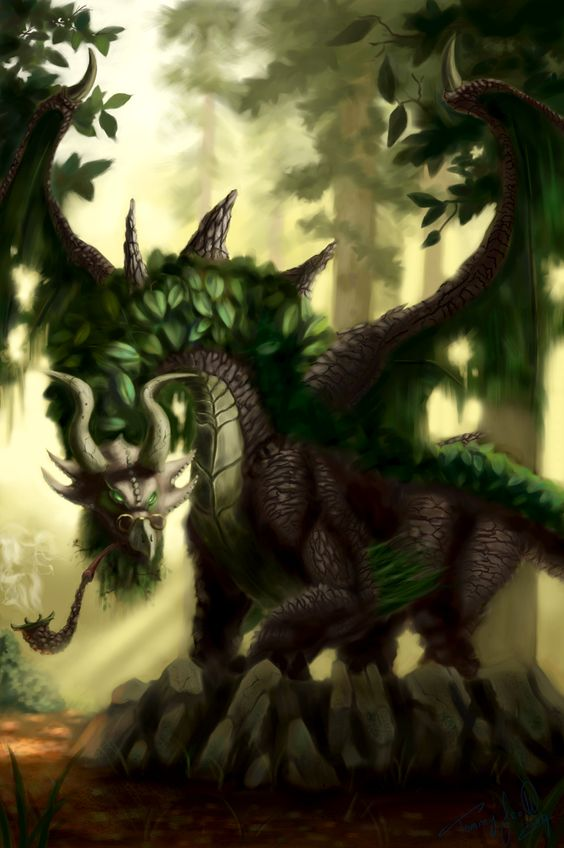 fantasy dragons art gallery | Elder Forest Dragon Picture ...