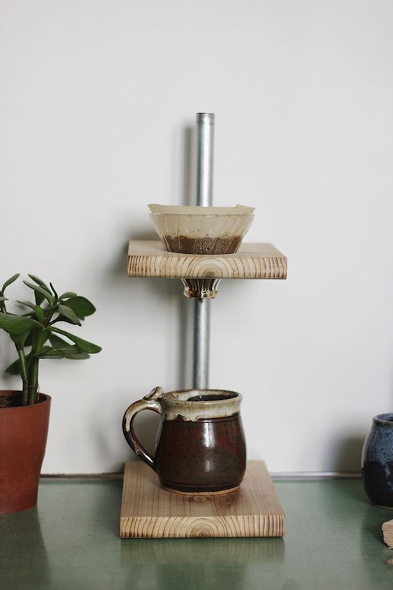 Coffee Maker That Doesnot Drip When Pouring : How-To: DIY Pour-Over Coffee Stand Pinterest Coffee maker, Traditional coffee makers and ...