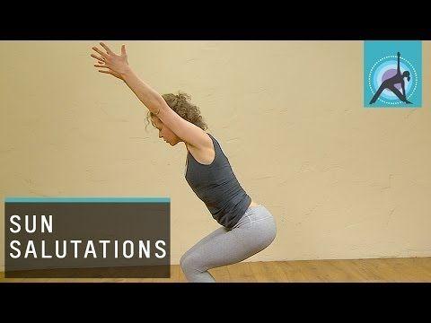 ▶ Three variations of a Sun Salutation or Surya Namaskar, Yoga - YouTube from easiest to harder