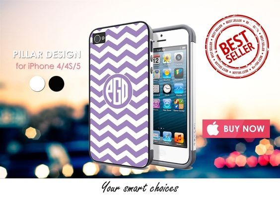 Phone Cases – MONOGRAM VIOLET iphone 4/4S/5 case cover – a unique product by Reyes-Dawn- on DaWanda