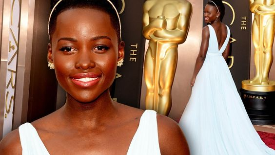 lupita nyong o oscars 2014 Wallpaper HD Wallpaper