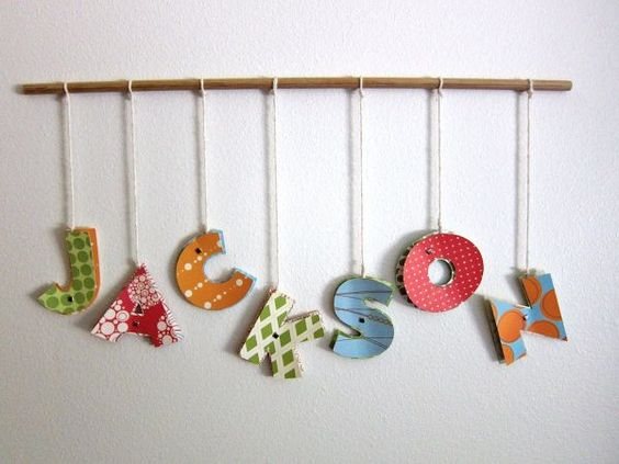 DIY Letters~ These are super fun and super easy to make! Easily customize the colors and designs to fit your name, your room, or someone elses. Easily create other signs for special occasions, like Merry...