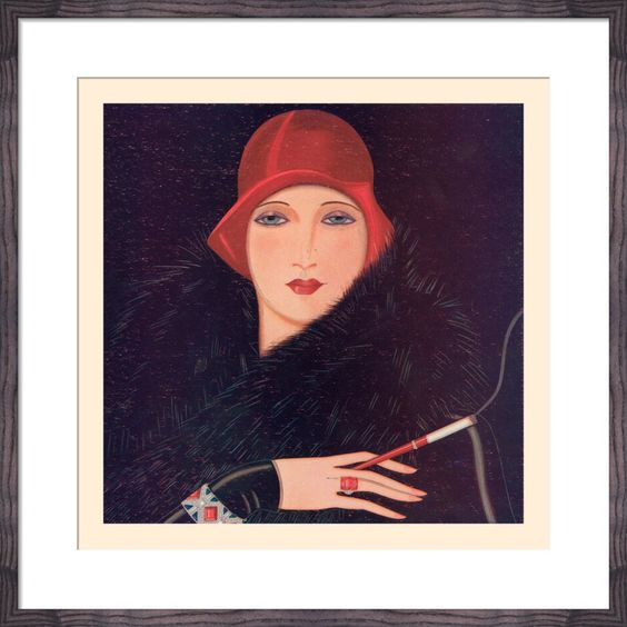 The Red Hat Art Print by Gordon Conway | King & McGaw