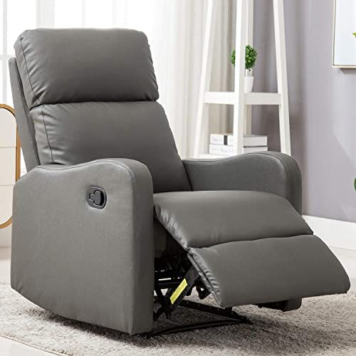 Best Seller Anj Leather Recliner Chair Living Room Manual Reclining Padded Seat Contemporary Single Sofa Home Theater Seating Grey Online Fayafashionable In 2020 Sofa Home Living Room Chairs Modern Classic Living Room