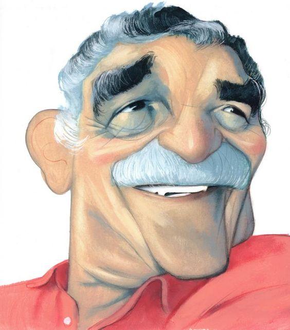 Fernando Vicente. Gabriel García Márquez. Babelia, El País, 2006. Acrylic on paper. Artist's collection © Fernando Vicente.