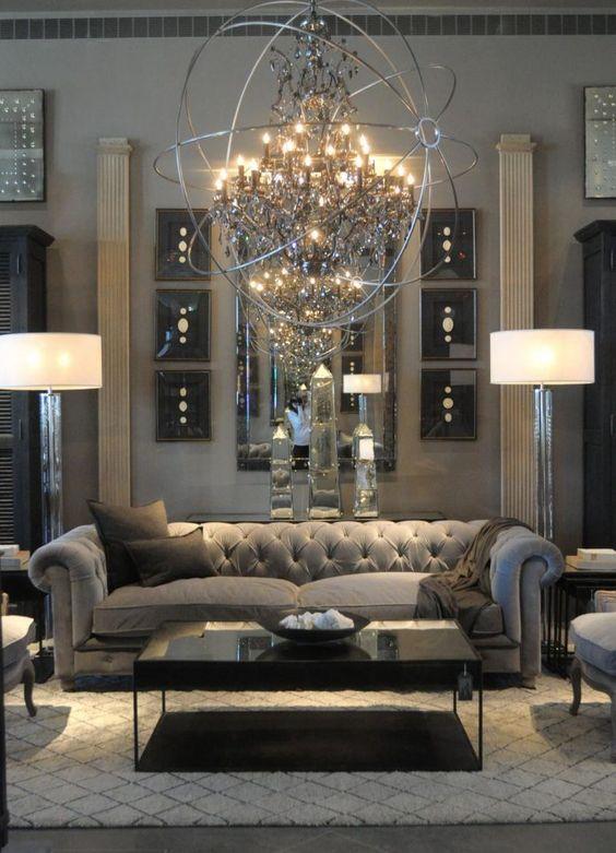interior design services atlanta - 29 Beautiful Black and Silver Living oom Ideas to Inspire
