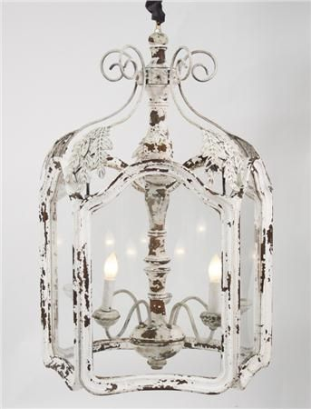 The Amelie Distressed Chandelier is perfect lighting for an entrance hall, bathroom or even back porch area. This light fixture is big on style and will enhance your French country home. $1,937.50
