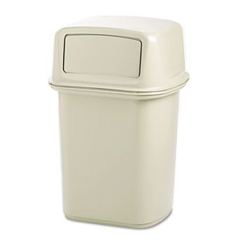 Ranger Fire-Safe Container, Square, Structural Foam, 45gal, Beige