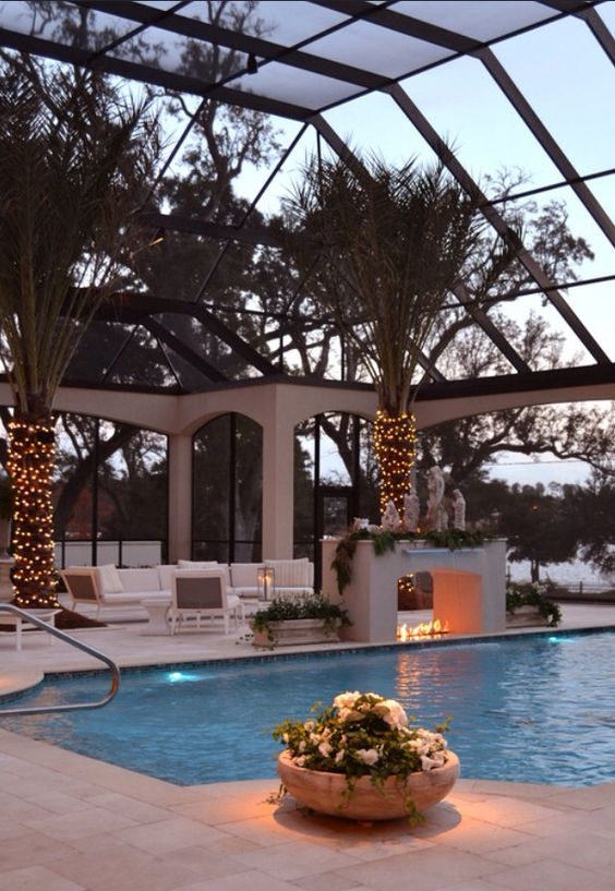 luxury pool enclosure