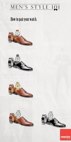 Como combinar zapatos, cinturón y reloj