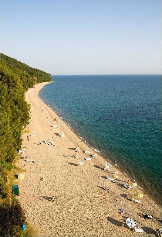 Picunda Panorama Abkhazia Black Sea Beaches North Caucasus - Abkhazia map black sea