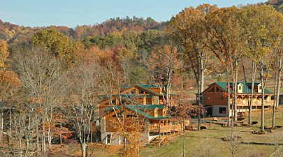 The Lodge at Tellico in Tellico Plains, Just off the Cherohala Skyway.