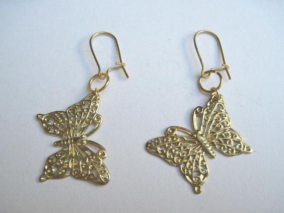 Schmetterling Ohrringe von glastropfen´s Kreativwerkstatt auf DaWanda.com