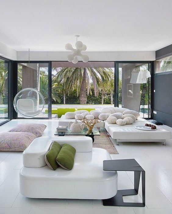 Interior design living room modern