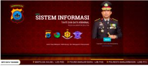 Arsip Berita  Kapolda Jatim Irjen Pol Drs Machfud Arifin adalah pencipta sistem Info Tahti Sewaktu Jabat Kapolda Kalsel