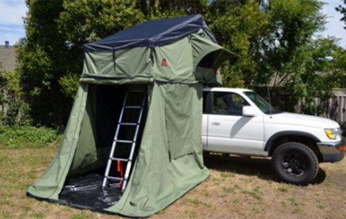 Autana ruggedized SKY roof-top tent (here with the Annex room). & Autana ruggedized SKY roof-top tent (here with the Annex room ...