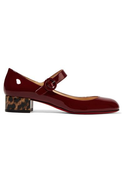 christian louboutin mary jane patent leather