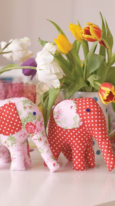 Free Soft Toy Sewing Patterns | Pretty Elephant Toy Sewing Project:
