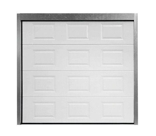 Porte De Garage Sectionnelle Motorisee En Acier H 200 Cm L 300 Cm Porte De Garage Sectionnelle Garage Porte Garage