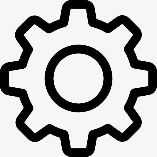 L icône de réglage de l engrenage Gratuit PNG et Clipart | Icône  application, Paysage noir et blanc, Dessin appareil photo