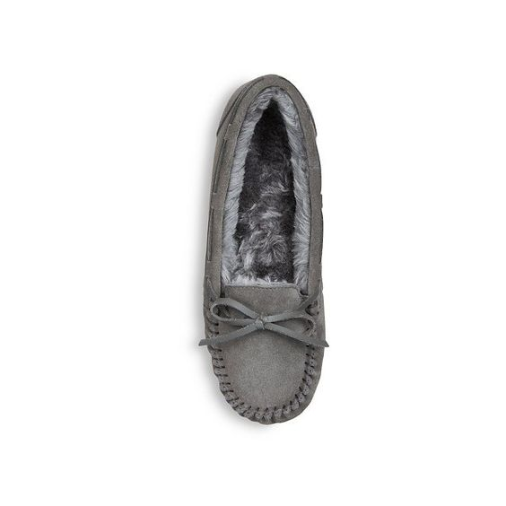 Women's Chaia Suede Moccasin Slippers - Mossimo Supply Co.™ : Target ($14) ❤ liked on Polyvore featuring shoes and slippers