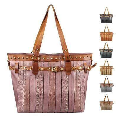 Women 39 S Hand Bag A4 Shopper Tote Bag Leather Look School