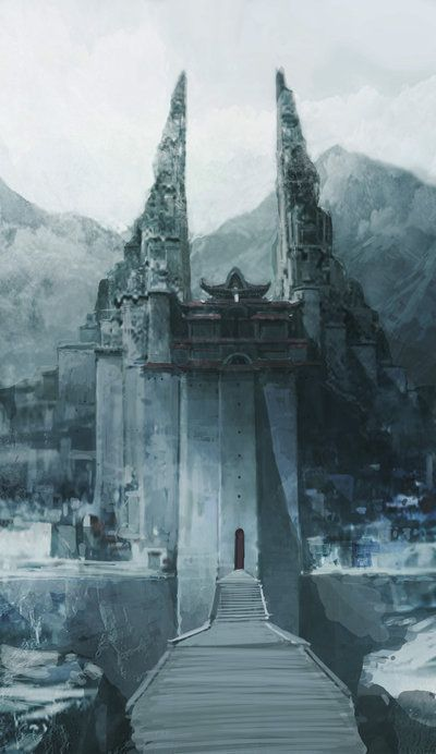 67 Surreal Castle Concept Art Depictions to Surge Inspiration From #fortressinthesky #sentinel #prison #fortress #mountain #village #cityinthesky