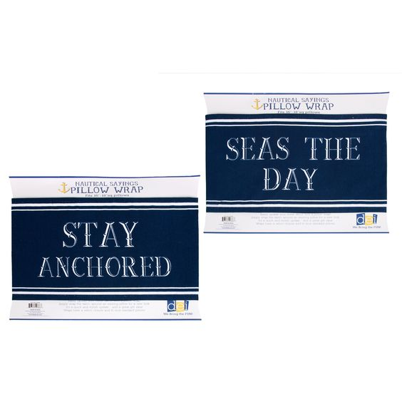 Latitude 38 2 Piece Nautical Pillow Cover Set