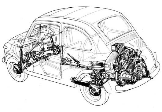 fiat 500  engine and classic on pinterest