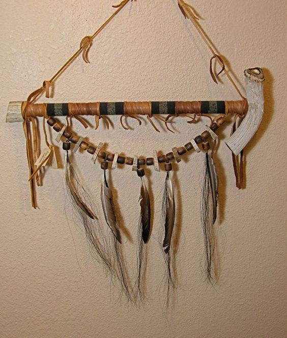 Handmade Navajo Peacepipe made of antler    Yes, you can smoke it!  Artist: Gene George, Navajo