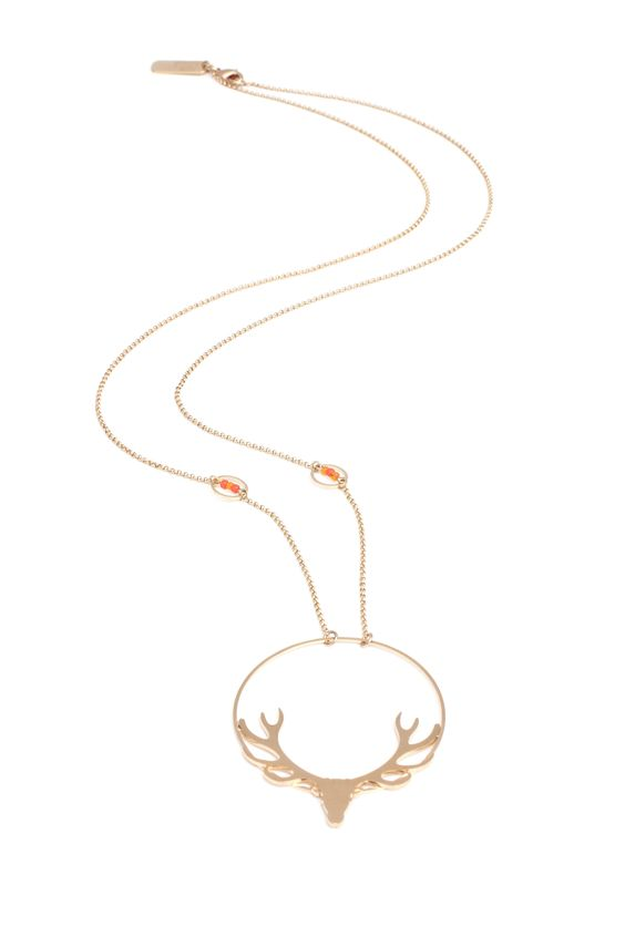 deer long necklace --> http://linapoum.bigcartel.com