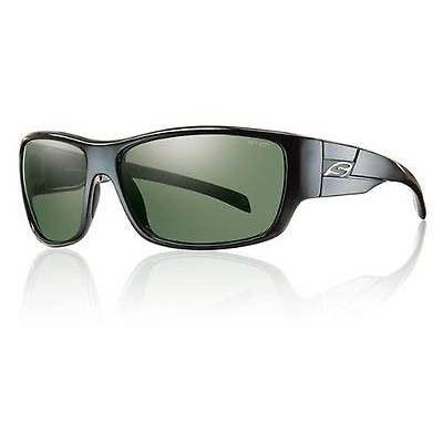 Smith Frontman Rectangle Sunglasses Black Frame Polarized Gray Green TLT Lenses
