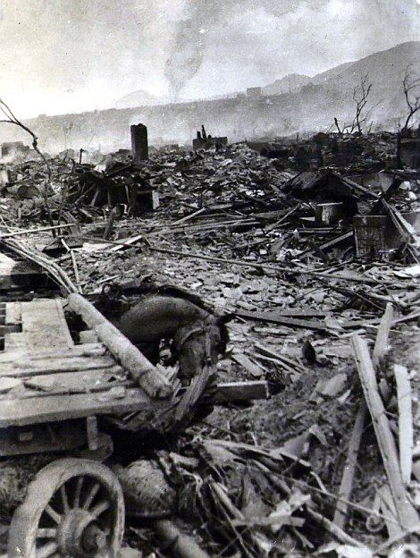 Rare photographs show the aftermath of Hiroshima after the atomic bomb   Daily Mail Online