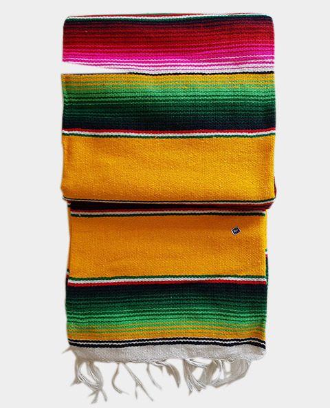 Couverture mexicaine jaune | Couverture mexicaine,
