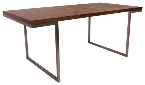 Home Collection 70 by 35-Inch Repetir Walnut Veneer Dining Table - http://www.furniturendecor.com/home-collection-70-by-35-inch-repetir-walnut-veneer/ - Dining Room Furniture, Dining Tables, Furniture, Home and Kitchen