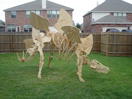 How to build a giant dinosaur