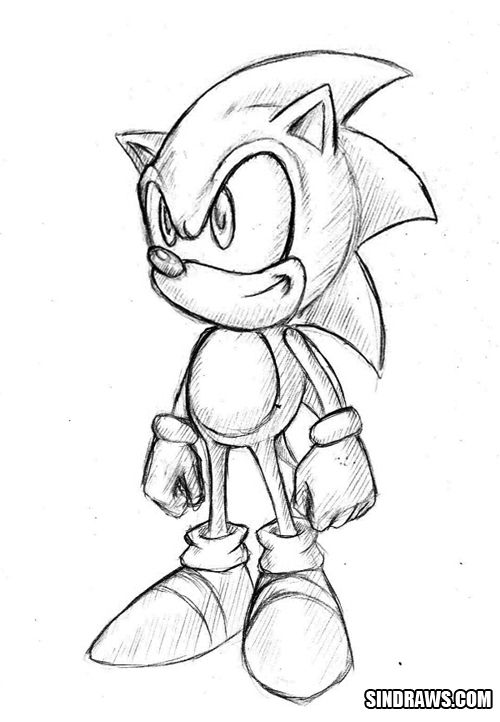 Classic Sonic By Sindraws On Deviantart Disney Drawings Sketches
