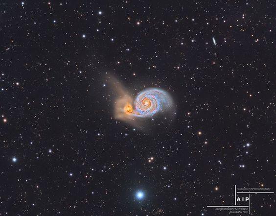 The Whirlpool Galaxy and Beyond via NASA http://ift.tt/2ckvJbO