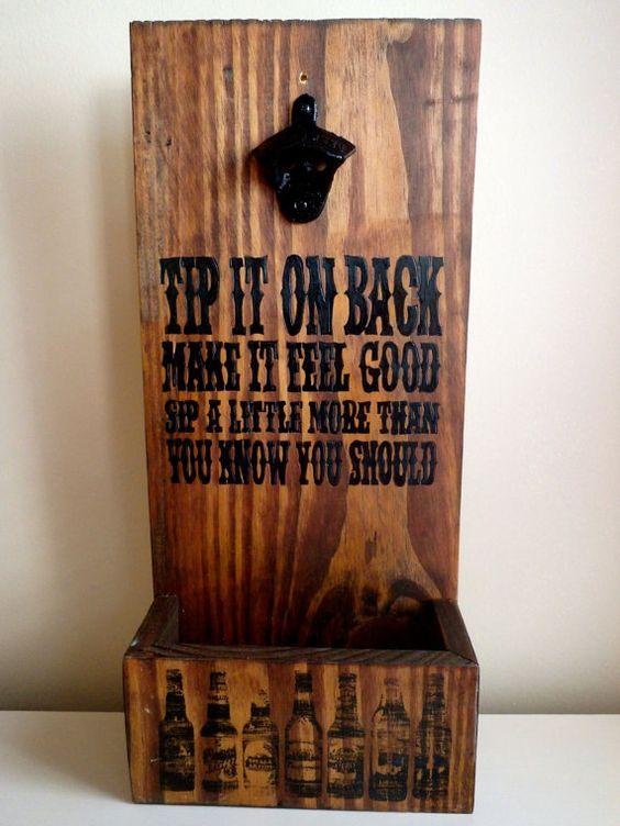Dierks Bentley Quote Beer Opener By Woodenshabbyshack On