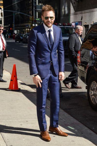 blue suit brown shoes - Google Search   Men's fashion   Pinterest