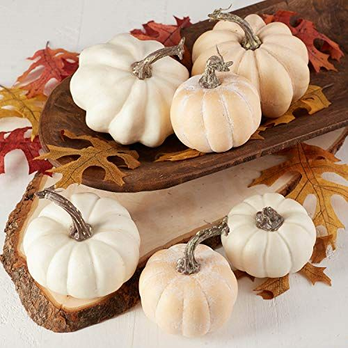 Gobble Up All Things Yummy On These Thanksgiving Tablescapes Artificial Pumpkins Pumpkin Pumpkin Vase
