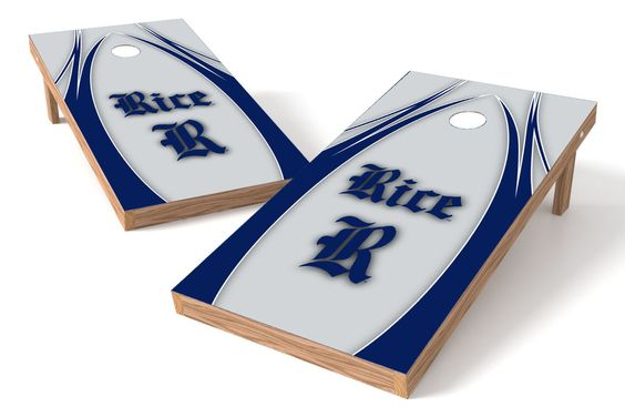 Rice Owls Cornhole Board Set - The Edge (w/Bluetooth Speakers)