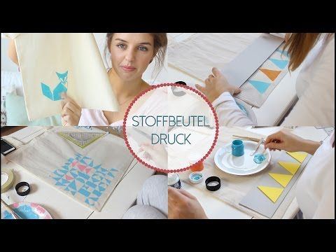 Stoffbeutel bedrucken DIY   Lovethecosmetics - YouTube