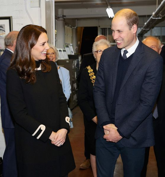 Kate Middleton Photos - Prince William, Duke of Cambrige (R) and Catherine, Duchess of Cambridge (L) visit Acme Whistles in Birmingham on November 22, 2017 in Birmingham, England. - The Duke & Duchess Of Cambridge Visit Birmingham