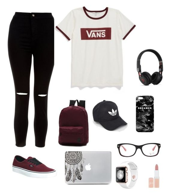 """""""My Style❤️"""" by lediona on Polyvore featuring beauty, New Look, Vans, Beats by Dr. Dre, adidas, Mr. Gugu & Miss Go, Ray-Ban and Rimmel"""