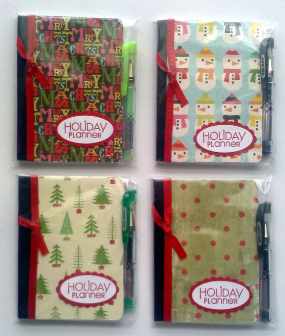 Mini composition books holiday planners these would be for Easy craft fair ideas