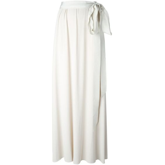 Lanvin Pleated Maxi Skirt ($410) ❤ liked on Polyvore featuring ...