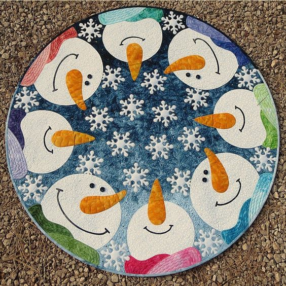 Kisses from Heaven Round Applique Quilt Pattern designed by JoAnn Hoffman of CompuQuilter ...